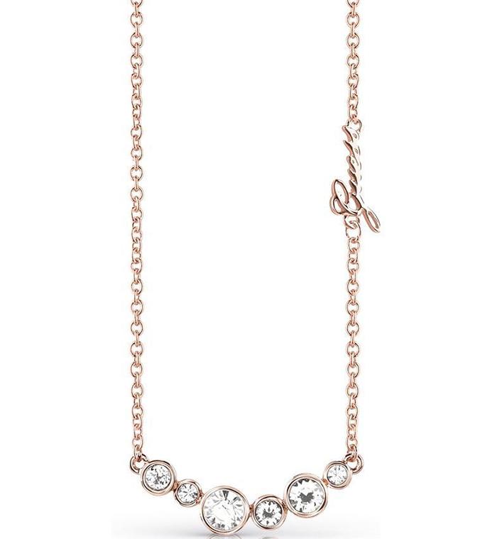 Ροζ gold κολιέ Guess με πέτρες ζιργκόν UBN84082 UBN84082 Ορείχαλκος