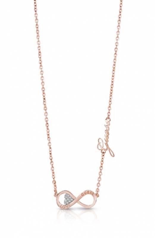 Κολιέ Guess με άπειρο ροζ gold UBN85013 UBN85013 Ορείχαλκος