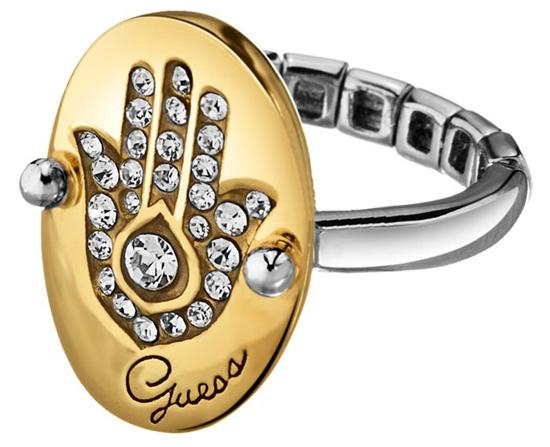 Επίχρυσο δαχτυλίδι Guess UBR11304-L Ορείχαλκος fashion jewels guess δαχτυλίδια