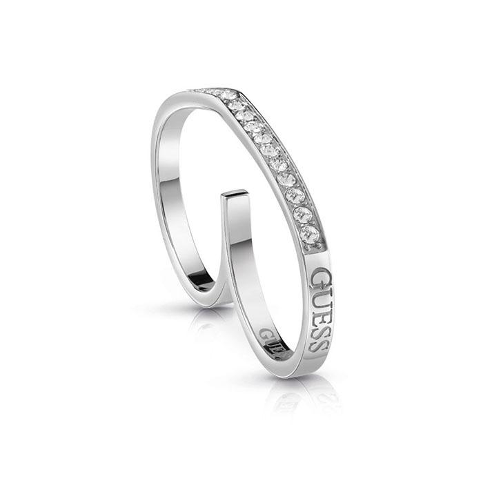 Guess Steel δαχτυλίδι διπλό με πέτρες UBR28003-54 UBR28003-54 Ατσάλι