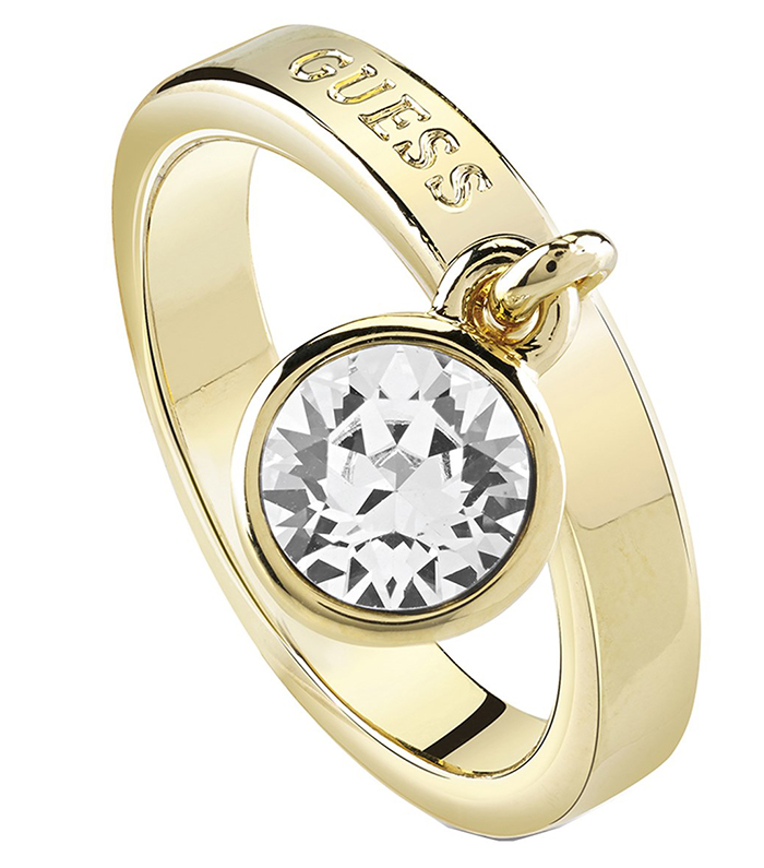 Επίχρυσο δαχτυλίδι Guess με πέτρα UBR84023-54 UBR84023-54 Ορείχαλκος