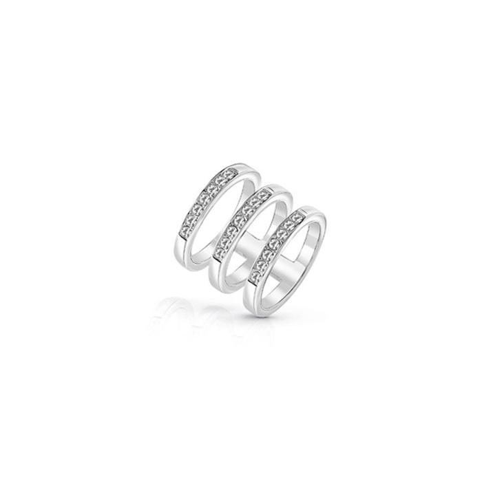 Ασημένιο τριπλό δαχτυλίδι Guess UBR84036-54 UBR84036-54 Ορείχαλκος fashion jewels guess δαχτυλίδια