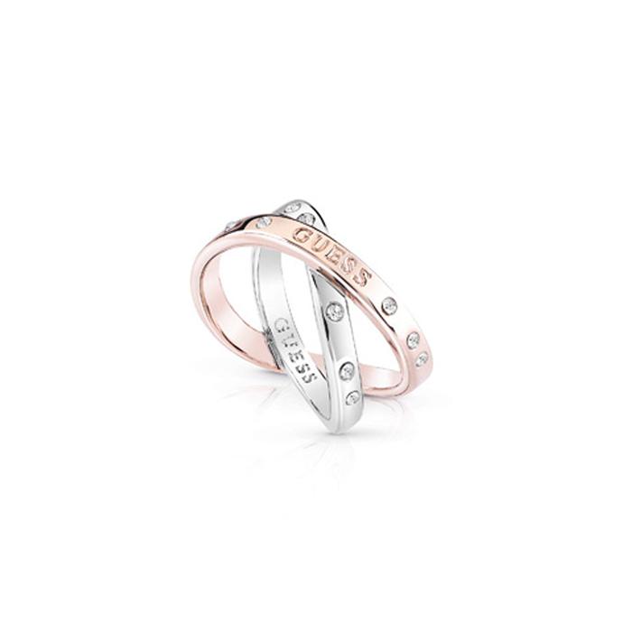 Δίχρωμο διπλό δαχτυλίδι Guess UBR84042-54 UBR84042-54 Ορείχαλκος
