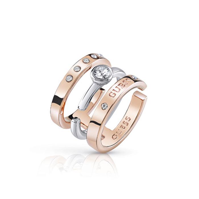 Τριπλό δαχτυλίδι Guess UBR84044-54 UBR84044-54 Ορείχαλκος fashion jewels guess δαχτυλίδια