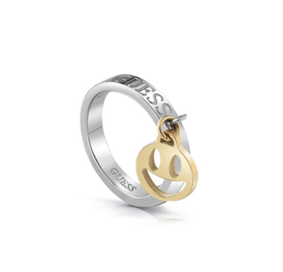 Guess δαχτυλίδι δίχρωμο με charm UBR85000-54 UBR85000-54 Ορείχαλκος