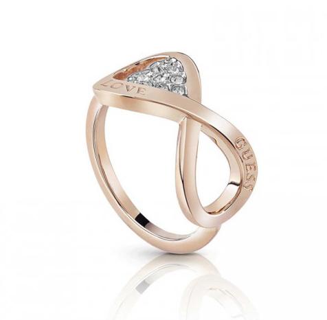 Ροζ gold δαχτυλίδι Guess με άπειρο UBR85005-54 UBR85005-54 Ορείχαλκος fashion jewels guess δαχτυλίδια