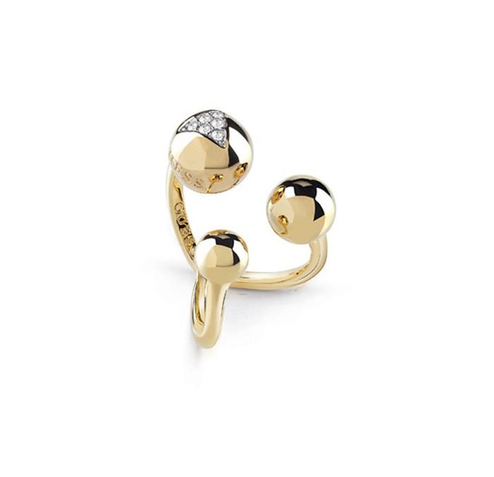 Δαχτυλίδι Guess επίχρυσο με χάντρες UBR85019-54 UBR85019-54 Ορείχαλκος fashion jewels guess δαχτυλίδια