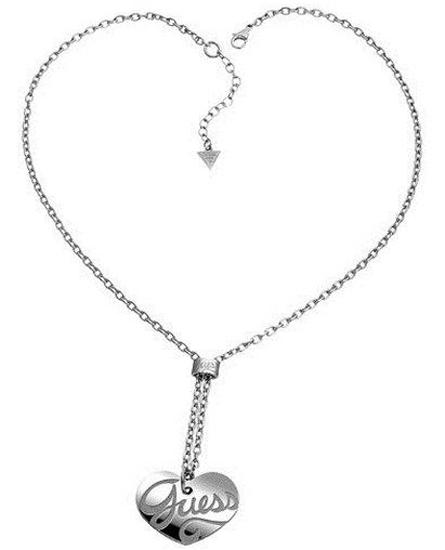 ΚΟΛΙΕ ΜΕ ΚΑΡΔΙΑ GUESS USN80903 Ατσάλι fashion jewels guess κολιέ