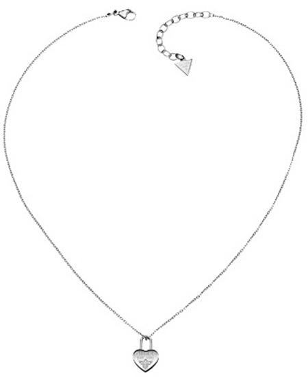 ΚΟΛΙΕ ΑΠΟ ΑΤΣΑΛΙ ΜΕ ΚΑΡΔΙΑ USN81005 Ατσάλι fashion jewels guess κολιέ