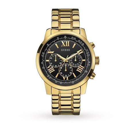Guess ρολόι ανδρικό με μπρασελέ επίχρυσο W0379G4 W0379G4 Ατσάλι