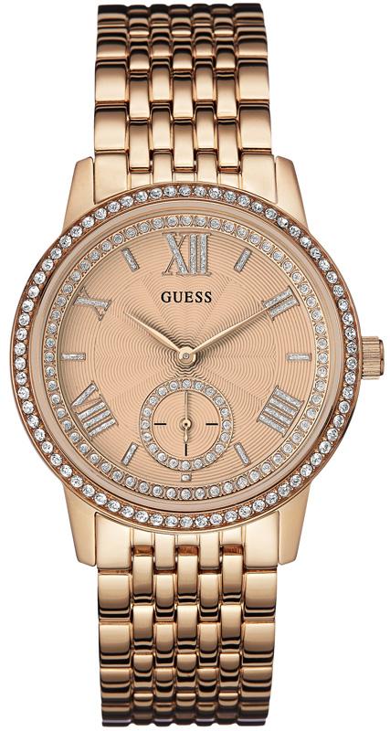 Γυναικείο ρολόι Guess ροζ επίχρυσο W0573L3 W0573L3 Ατσάλι ρολόγια guess