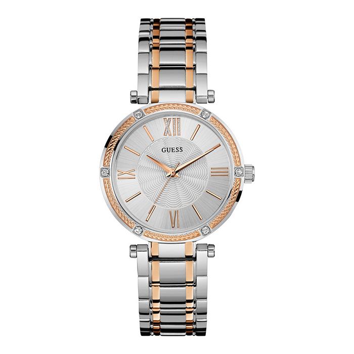 Γυναικείο ρολόι Guess δίχρωμο με κρυστάλλους W0636L1 W0636L1 Ατσάλι