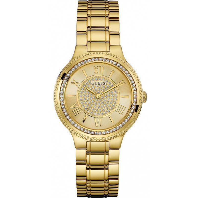 Γυναικείο επίχρυσο ρολόι Guess με πέτρες W0637L2 W0637L2 Ατσάλι