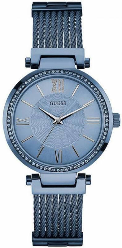 Guess ρολόι γυναικείο crystals blue W0638L3 W0638L3 Ατσάλι