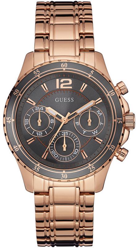 Guess γυναικείο ρολόι ροζ επίχρυσο δίχρωμο W0639L2 W0639L2 Ατσάλι