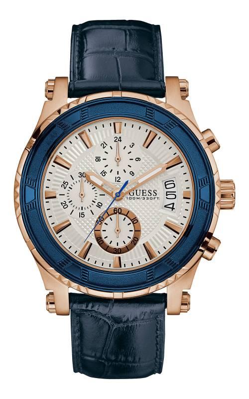 Ρολόι Guess μπλε με χρονογράφους W0673G6 W0673G6 Ατσάλι
