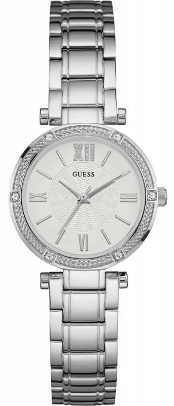 Guess crystals silver case ρολόι γυναικείο W0767L1 W0767L1 Ατσάλι