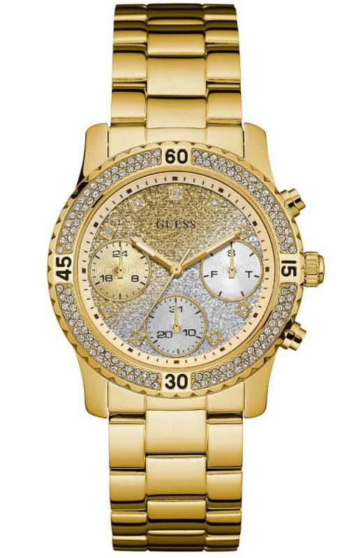 Γυναικείο επίχρυσο ρολόι Guess με δίχρωμο καντράν W0774L5 W0774L5 Ατσάλι