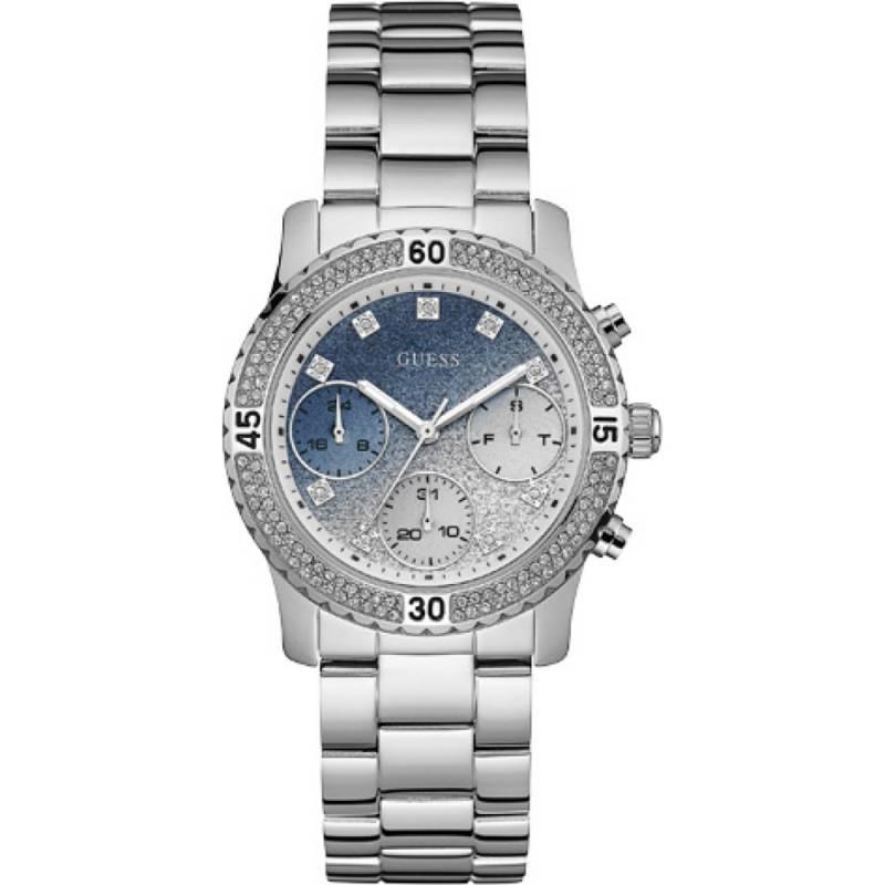 Guess γυναικείο ρολόι με δίχρωμο καντράν W0774L6 W0774L6 Ατσάλι