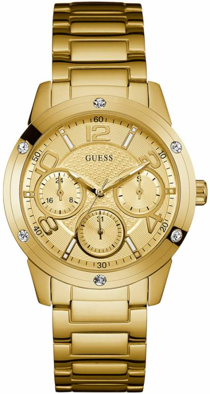 Guess Crystals Multifunction Gold Stainless Steel Bracelet W0778L2 W0778L2 Ατσάλι