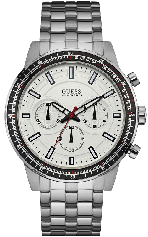 Ανδρικό ρολόι Guess chronograph W0801G1 W0801G1 Ατσάλι