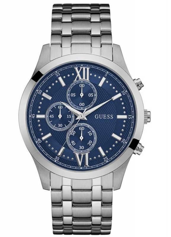 Ρολόι χειρός Guess με μπρασελέ και μπλε καντράν W0875G1 W0875G1 Ατσάλι