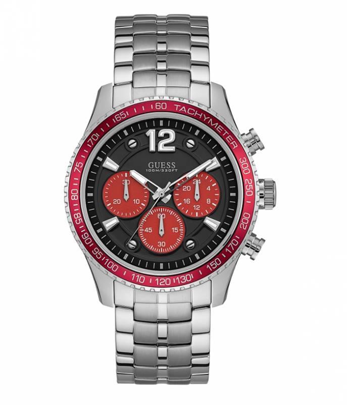 Ανδρικό ρολόι Guess με μαύρο καντράν και μπρασελέ W0969G3 W0969G3 Ατσάλι