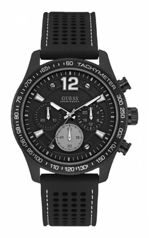 Μαύρο ρολόι Guess με χρονογράφους W0971G1 W0971G1 Ατσάλι ρολόγια guess