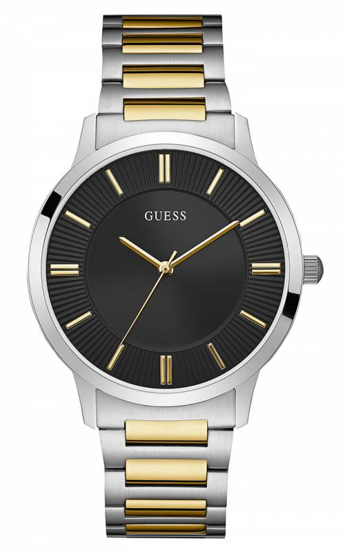 Δίχρωμο ανδρικό ρολόι Guess με μπρασελέ W0990G3 W0990G3 Ατσάλι
