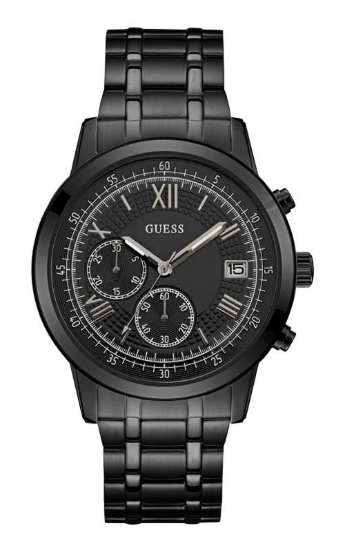 Ρολόι ανδρικό μαύρο Guess με χρονογράφους W1001G3 W1001G3 Ατσάλι