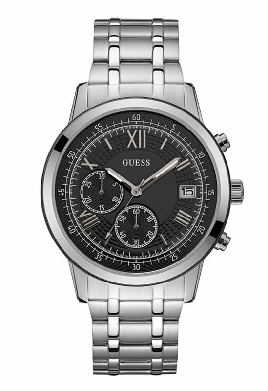 Guess ανδρικό ρολόι με μπρασελέ και χρονογράφους W1001G4 W1001G4 Ατσάλι