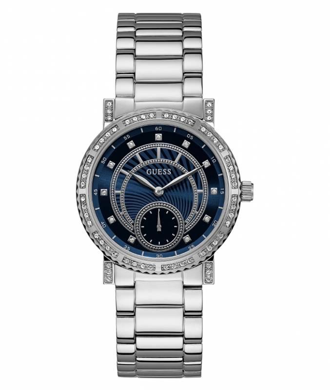 Γυναικείο ρολόι με μπρασελέ και μπλε καντράν Guess W1006L1 W1006L1 Ατσάλι