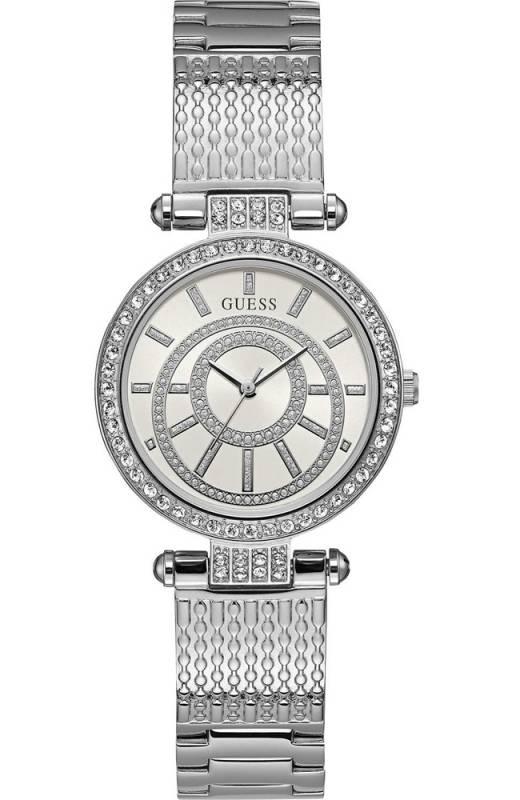 Γυναικείο ρολόι Guess Crystals με μπρασελέ W1008L1 W1008L1 Ατσάλι