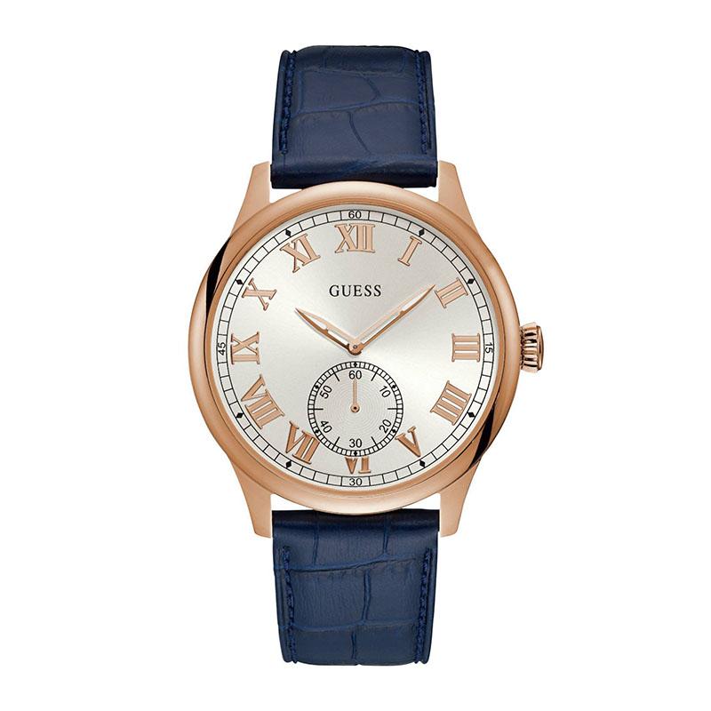 Ανδρικό ρολόι Guess Quartz Leather Strap W1075G5 W1075G5 Ατσάλι