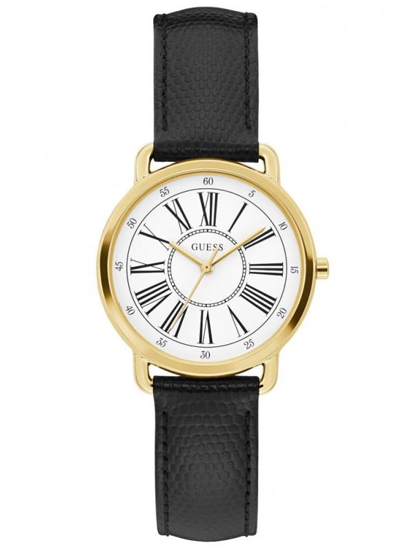 Guess Black Leather γυναικείο ρολόι Quartz W1285L2 W1285L2 Ατσάλι