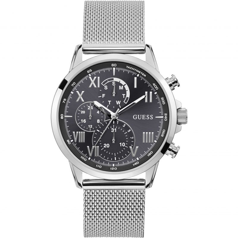 Aνδρικό Guess ρολόι Silver Stainless Steel W1310G1 W1310G1 Ατσάλι