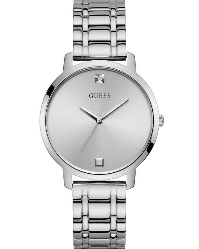 Silver Stainless Steel Bracelet Ρολόι Guess Quartz W1313L1 W1313L1 Ατσάλι