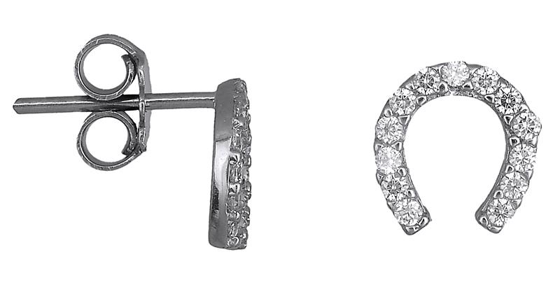 Λευκόχρυσα σκουλαρίκια 018545 018545 Χρυσός 14 Καράτια χρυσά κοσμήματα σκουλαρίκια καρφωτά