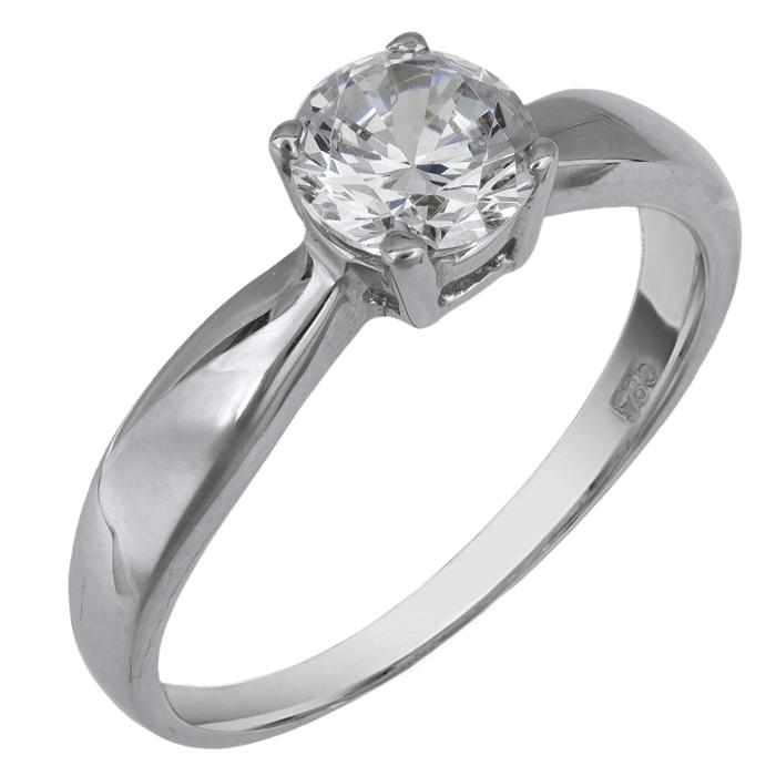 Δαχτυλίδι λευκόχρυσο Κ14 001952 001952 Χρυσός 14 Καράτια