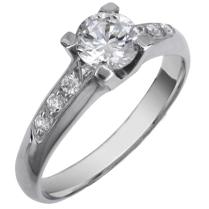 Μονόπετρο δαχτυλίδι λευκόχρυσο 14 Κ 002121 002121 Χρυσός 14 Καράτια