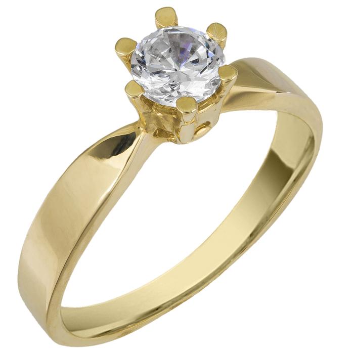 Χρυσό δαχτυλίδι 14Κ 002595 Χρυσός 14 Καράτια