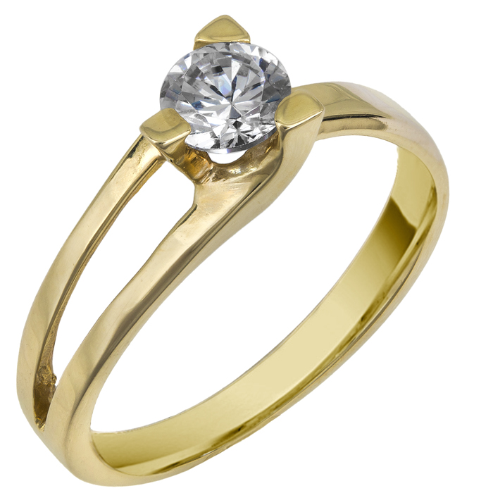 Μονόπετρο δαχτυλίδι 14 καράτια 002598 002598 Χρυσός 14 Καράτια
