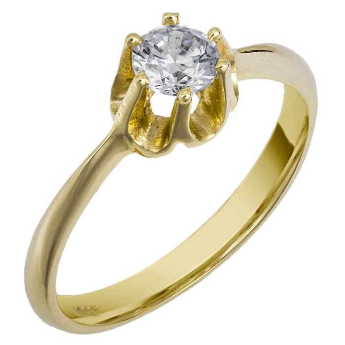 Μονόπετρο δαχτυλίδι 14Κ 002600 002600 Χρυσός 14 Καράτια