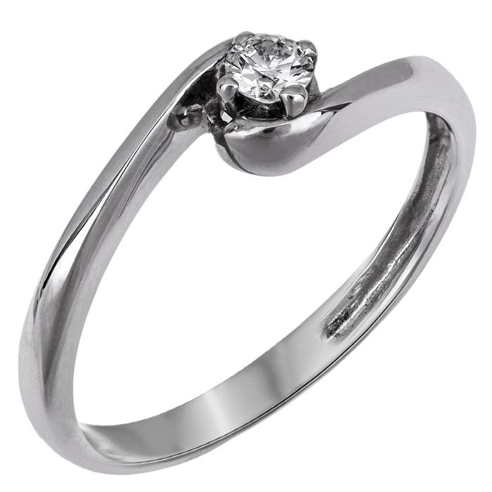Μονόπετρο Λευκόχρυσο Δαχτυλίδι 18Κ με Διαμάντι 007402 007402 Χρυσός 18 Καράτια