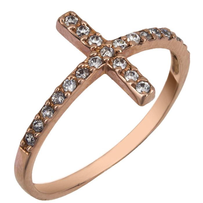 Ροζ χρυσό δαχτυλίδι Κ14 011852 011852 Χρυσός 14 Καράτια χρυσά κοσμήματα δαχτυλίδια σειρέ ολόβερα