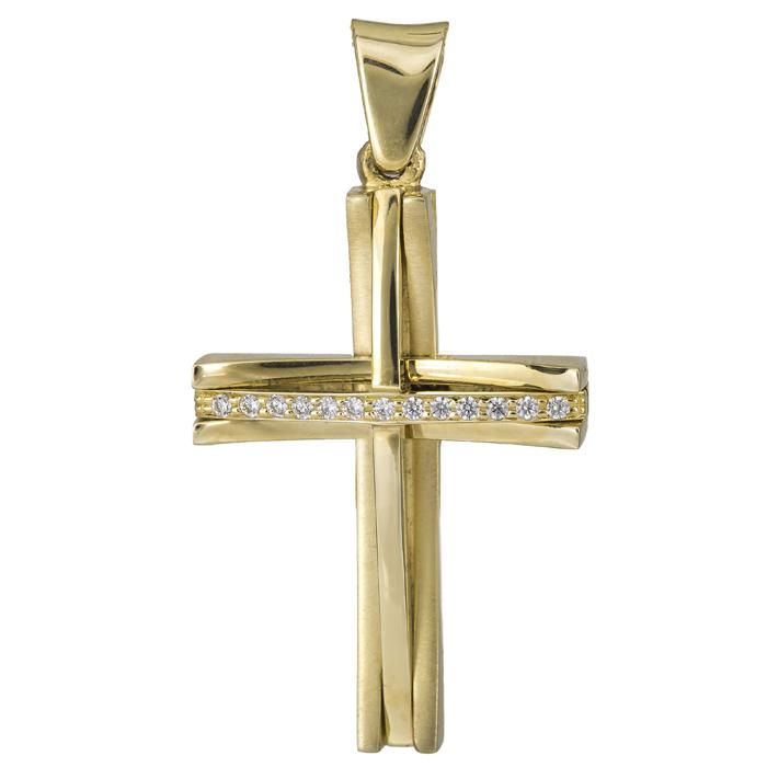 Σταυροί Βάπτισης - Αρραβώνα Χρυσός σταυρός 14Κ 012185 Γυναικείο Χρυσός 14 Καράτια