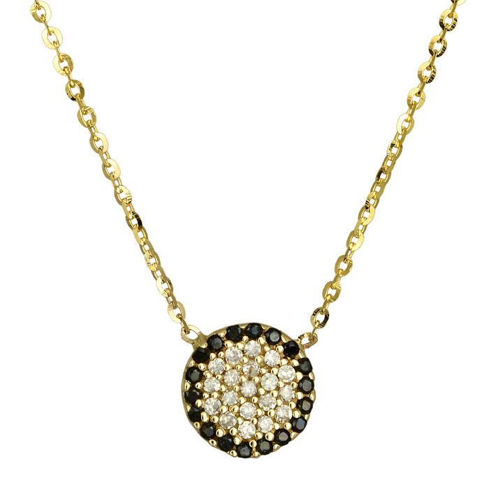 Κολιέ γυναικείο χρυσό Κ14 με πετράτο ματάκι 016924 016924 Χρυσός 14 Καράτια