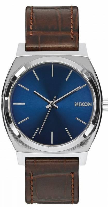 Ρολόι χειρός Nixon Time teller Leather Strap A045-1887-00 A045-1887-00 Ατσάλι