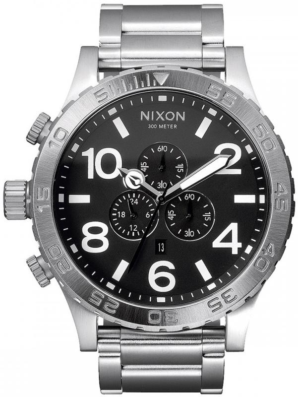 Αντρικό ρολόι Nixon Chrono Black A083-000 A083-000 Ατσάλι