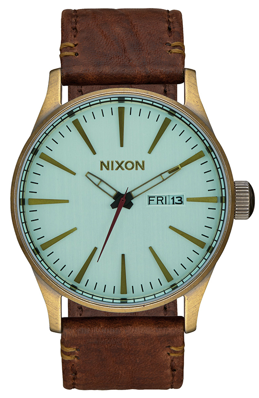 Ρολόι Nixon Sentry Leather Strap A105-2223-00 A105-2223-00 Ατσάλι